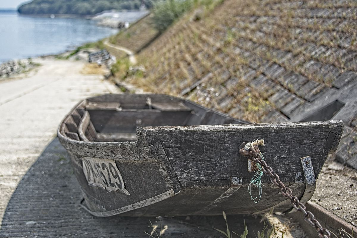 A well-anchored old boat