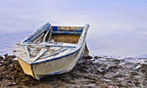 An old little boat