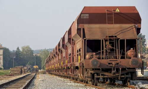 A large number of wagons
